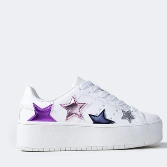 Shoes   J Adams White Platform Sneakers